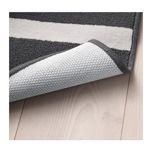 Skelde Thảm 1 2m X 1 8m Rug Low Pile Black Multicolour